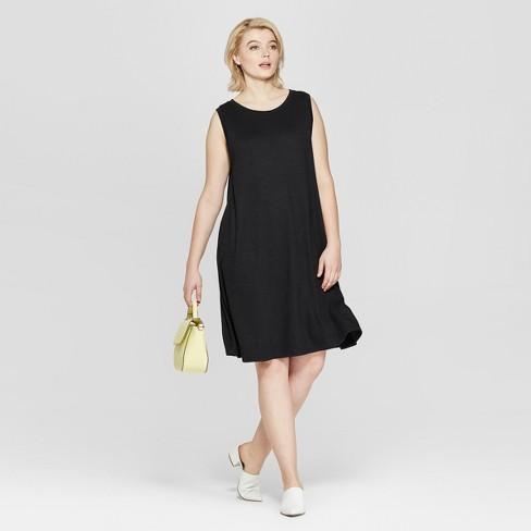 Women\'s Plus Size Sleeveless Midi Swing Dress - Ava & Viv™ : Target