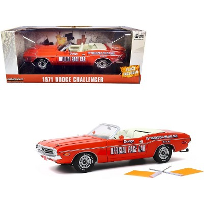 1971 Dodge Challenger Convertible 55th Indy  PACE Car ** Greenlight 1:64 NEU