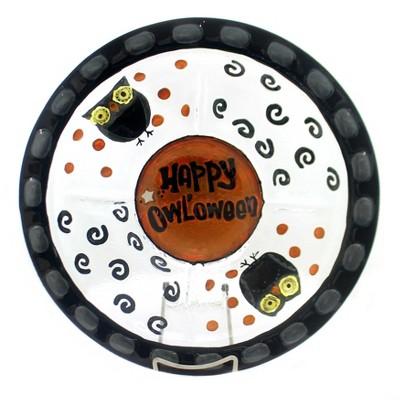 "Tabletop "" Happy Halloween 5 Section Server Owls Evergreen Enterprises Inc  -  Serving Platters"