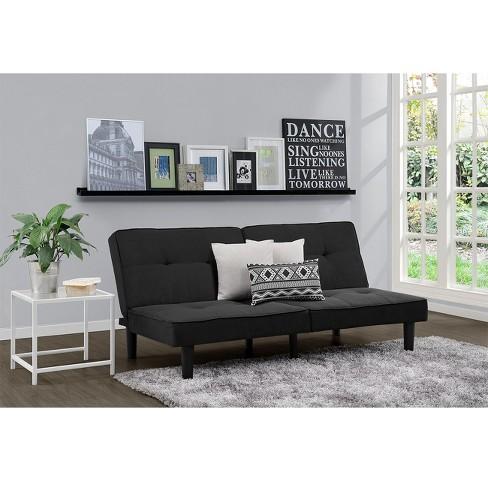futon sofa black room essentials target