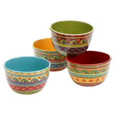 Certified International Tunisian Sunset Ice Cream Bowls 22oz - Set of 4