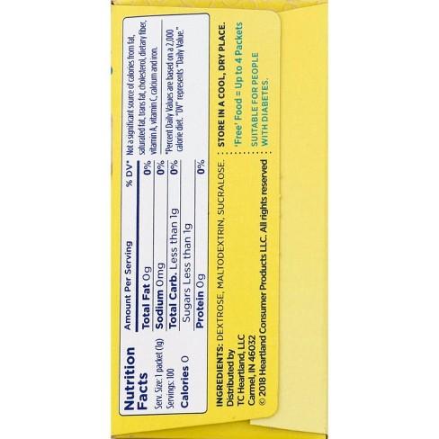 Splenda No Calorie Sweetener Packets 100ct Target