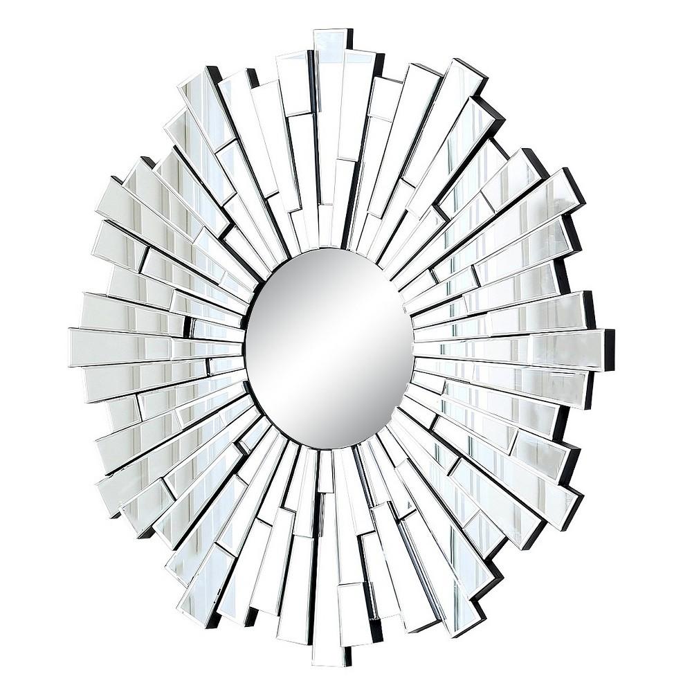 Andre Sunburst Decorative Wall Mirror Silver - Abbyson Living, Light Silver