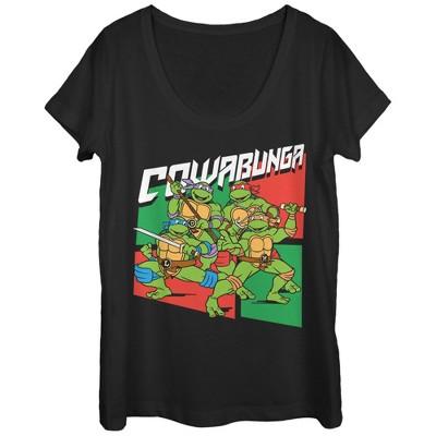 TMNT Teenage Mutant Ninja Turtles Cowabunga Juniors T-shirt