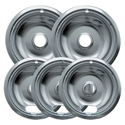 Range Kleen 5pc Drip Pans - Chrome