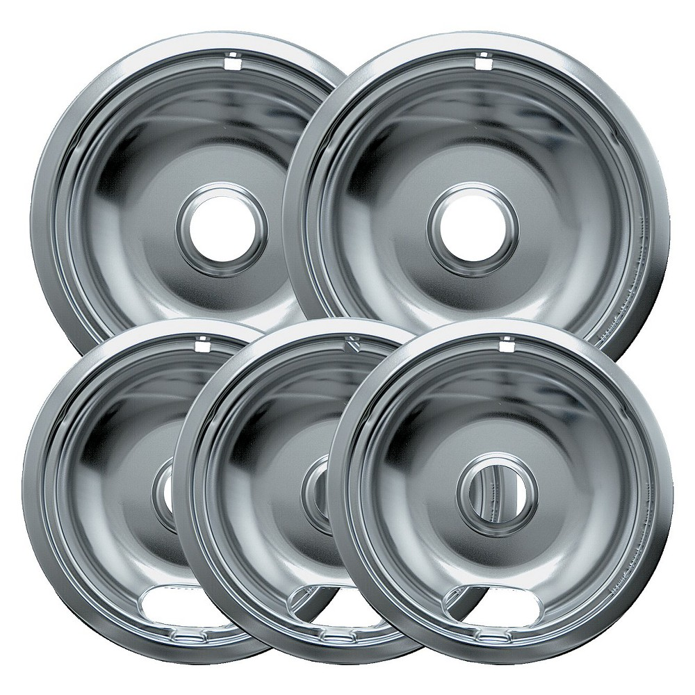 Range Kleen 5pc Drip Pans – Chrome 13741387