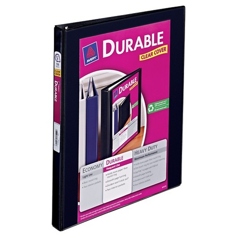 avery 0 5 clear view 3 ring binder with one touch slant rings