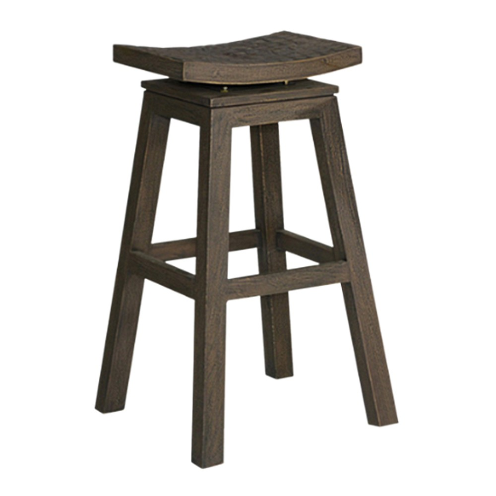 30 Sylvia Mango Wood Barstool Gray - East At Main