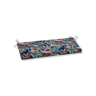 Flamingoing Lagoon Outdoor Bench Cushion Blue - Pillow Perfect