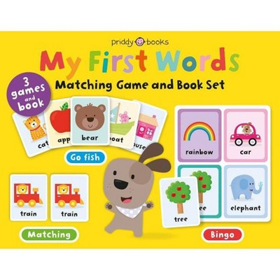 My First Words Matching Game and Book Set - (My First Priddy, 1)by Roger Priddy (Board_book)