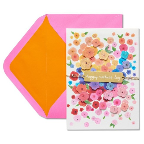 Papyrus Flower Cascade Mother's Day Card with Glitter - image 1 of 4