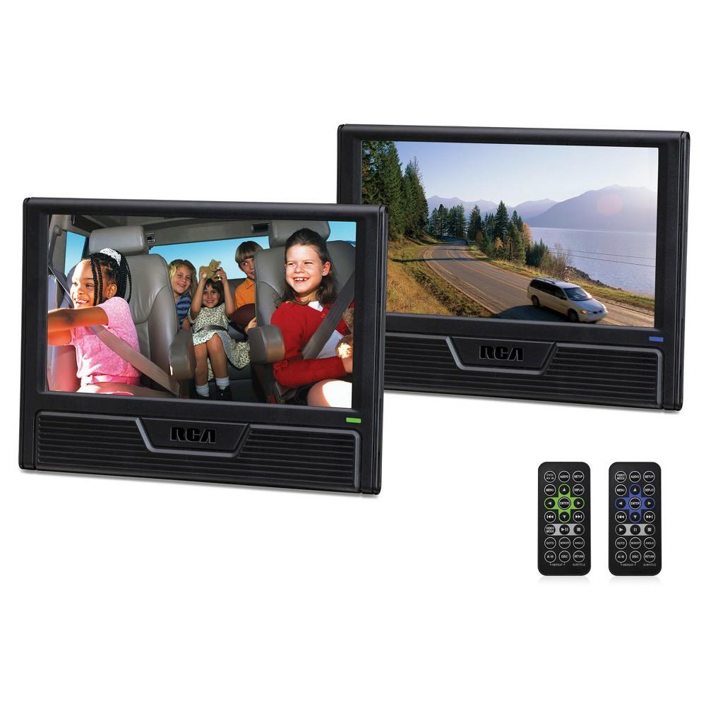 "RCA 9"" Twin Screen Mobile DVD Player DRC772989DE22, Black"
