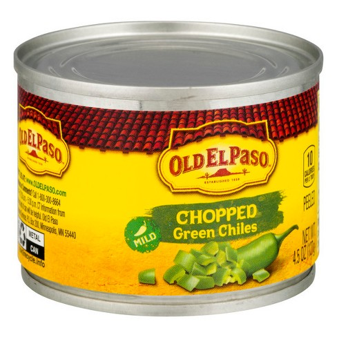 Old El Paso Green Chiles Chopped 4.5oz : Target
