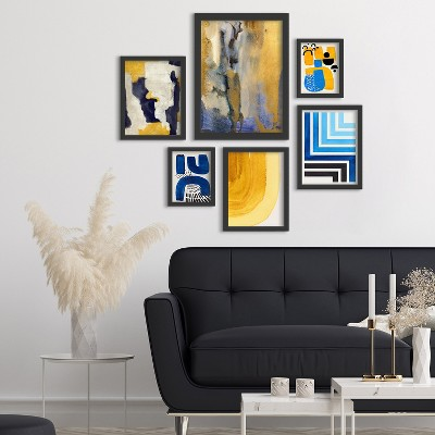 Americanflat Gold Dust II 6 Piece Framed Gallery Wall Art Set