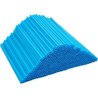 500-Pack Eco-Friendly PLA Disposable Drinking Straws, Plant Based, Compostable & Biodegradable, Alternative to Plastic Straws, Blue 8.3""