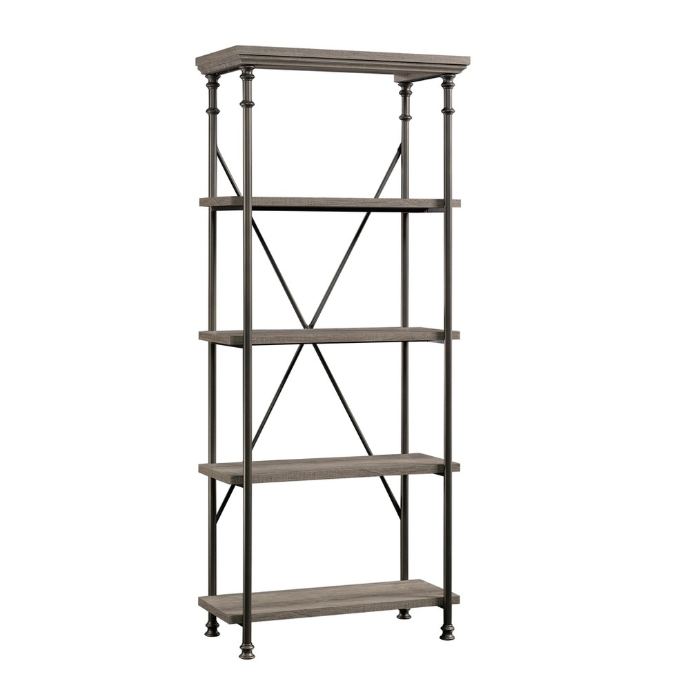 "Image of ""70"""" Canal Street 5 Shelf Bookcase Northern Oak Finish - Sauder, Brown"""