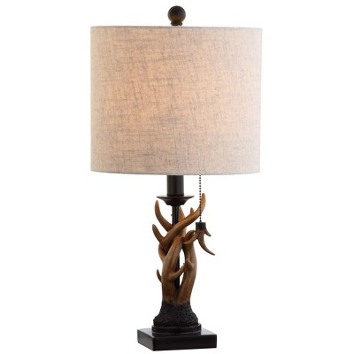 "20.5"" Gaston Resin Mini Table Lamp (Includes LED Light Bulb) Brown - JONATHAN Y"