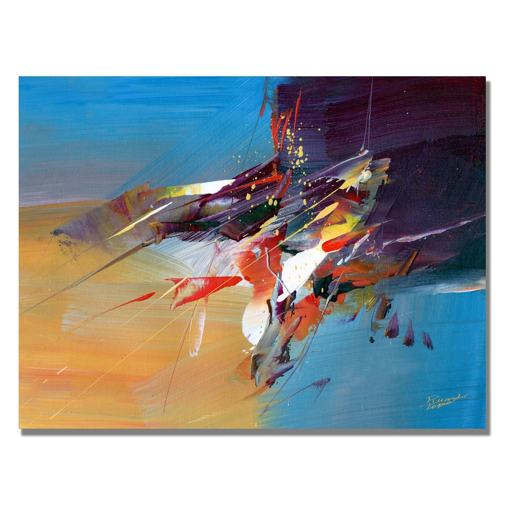 Trademark Fine Art 18 x 24 Tapia 'New World I' Canvas Art was $59.99 now $47.99 (20.0% off)