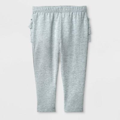 Baby Girls' Ruffle Leggings - Cat & Jack™ Gray 3-6M