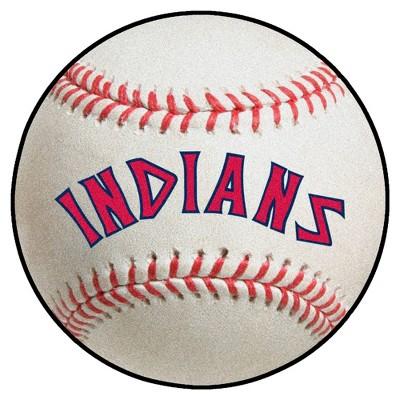 "MLB Cleveland Indians 27""x27"" Retro Baseball Mat"