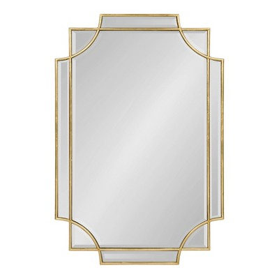 "24"" x 35"" Minuette Decorative Framed Wall Mirror Gold - Kate and Laurel"