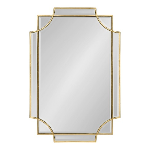 "24""x36"" Minuette Decorative Rectangle Wall Mirror Gold - Kate and Laurel - image 1 of 4"