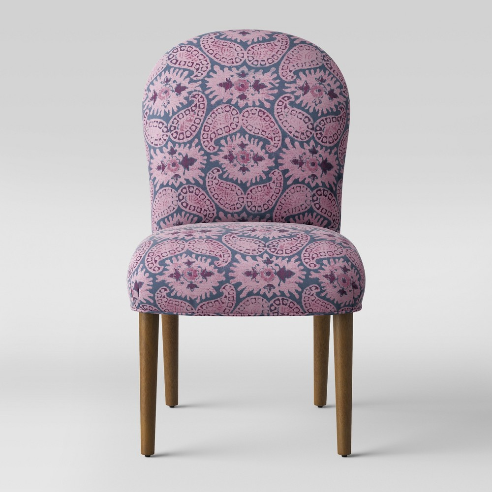 Caracara Rounded Back Dining Chair Purple Paisley - Opalhouse
