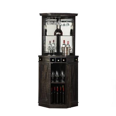 Corner Bar with Wine Rack - Home Source