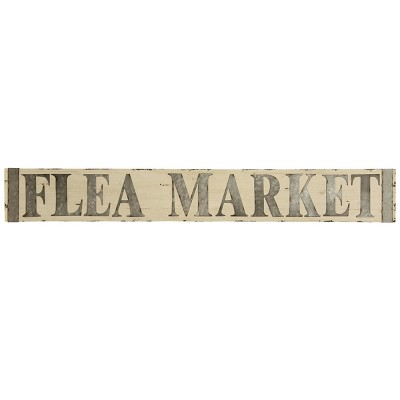 8  Metal & Wooden Flea Market Signage Decorative Wall Art - StyleCraft