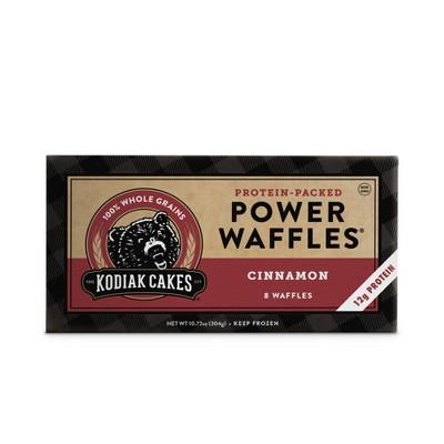 Kodiak Cakes Frozen Power Waffles Cinnamon - 10.72oz/8ct
