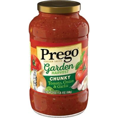 Prego Chunky Garden Tomato-Onion & Garlic Sauce 24oz