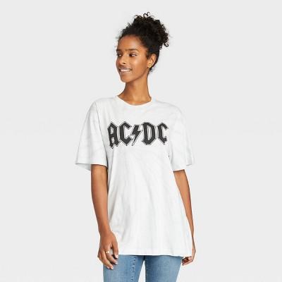 Women's AC/DC Oversized Lounge T-Shirt - White