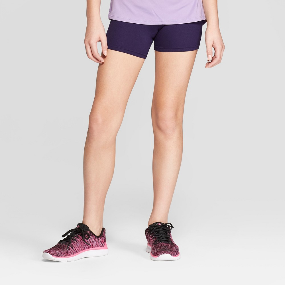Girls' Performance Yoga Shorts - C9 Champion Navy (Blue) XS