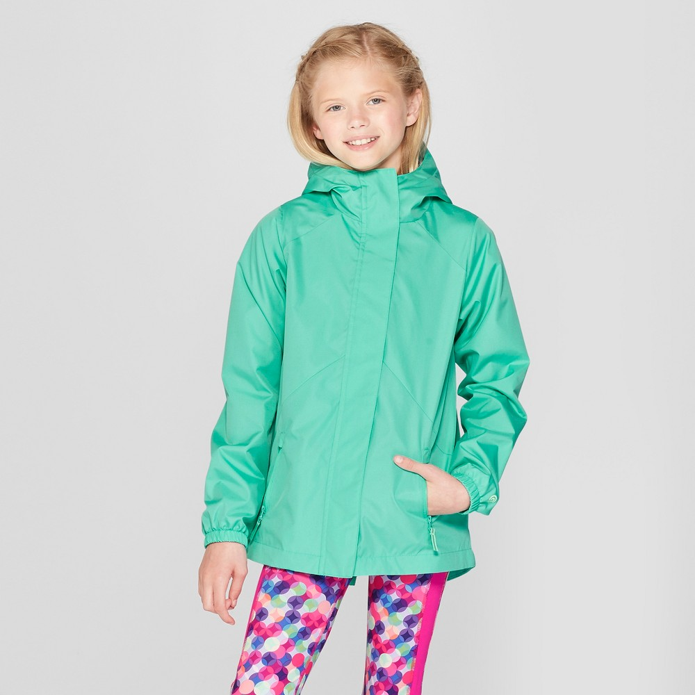 Girls' All Weather Windbreaker Jacket - C9 Champion Green L