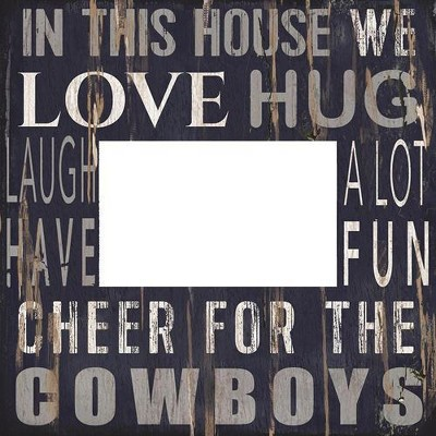 """NFL Dallas Cowboys 4"""" x 4"""" In This House Frame"""