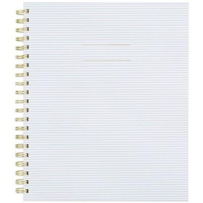"200 sheet College Ruled Spiral 1 Subject Notebook 11""x9.125"" Blue Stripe - Sugar Paper™"