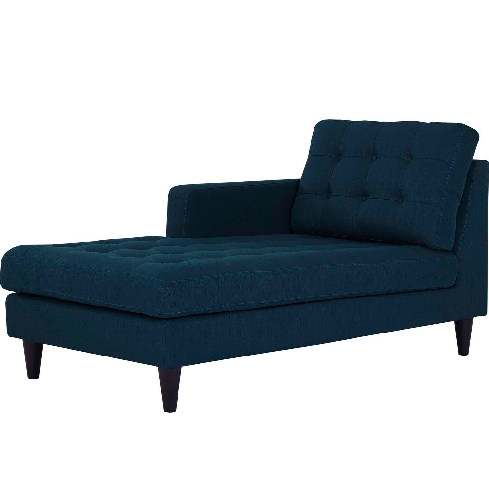 Empress LeftArm Upholstered Fabric Chaise Azure (Blue) - Modway