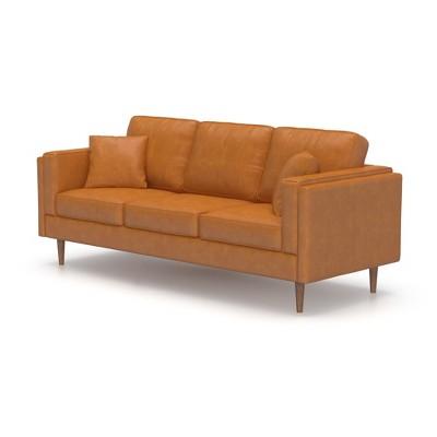 Logan Modern Faux Leather Sofa   AF Lifestyle