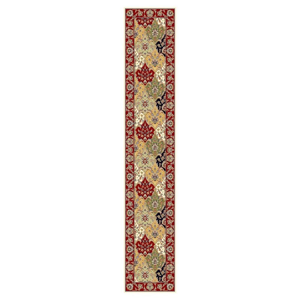 Red Floral Loomed Runner 2'3X14' - Safavieh, Multi-Colorednred