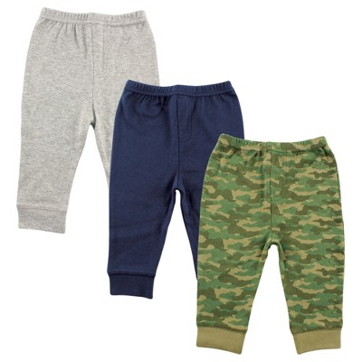 Luvable Friends Baby and Toddler Boy Cotton Pants 3pk, Camo