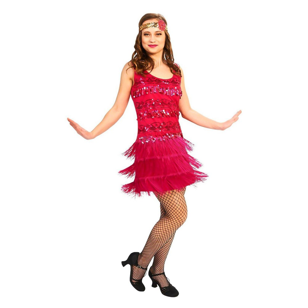 Women's 20's Vintage Inspired Flapper Costume Kit XL, Multicolored