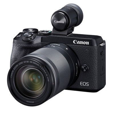 Canon EOS M6 Mark II Mirrorless Camera (Black) with EF-M 18-150mm Lens and EVF
