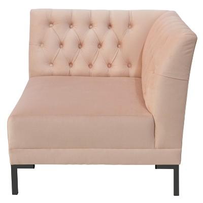 Etonnant Audrey Diamond Tufted Corner Chair Blush Velvet And Black Metal Y Legs    Cloth U0026 Co. : Target