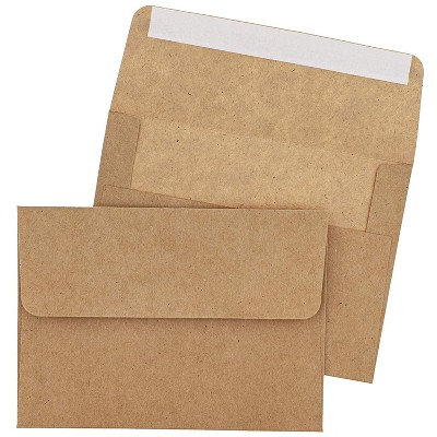100-Pack Self Seal A7 Kraft Envelopes for 5 x 7 Cards, Invitations, and Photos