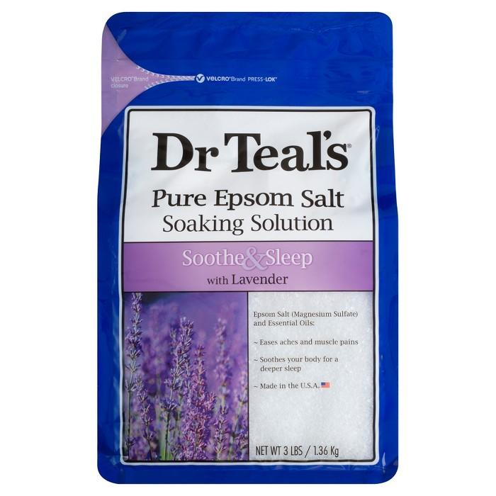 Dr Teal's Pure Epsom Salt Soothe & Sleep Lavender Soaking Solution - 3lbs - image 1 of 3