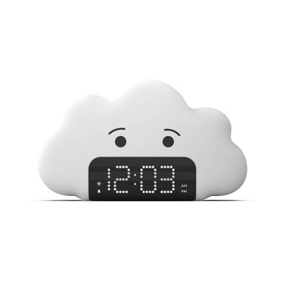 Kids' Wake up Light Alarm Cloud Clock White - Capello