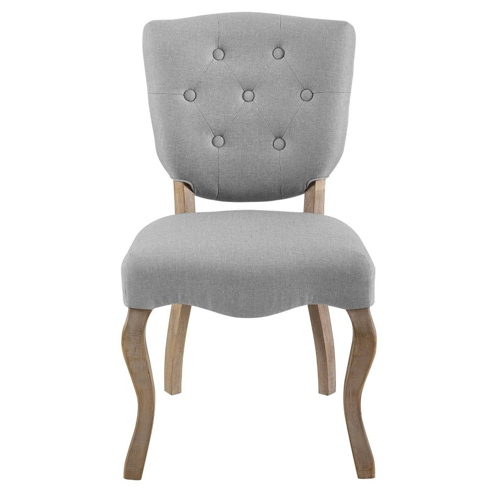 Array Vintage French Upholstered Dining Side Chair Light Gray - Modway