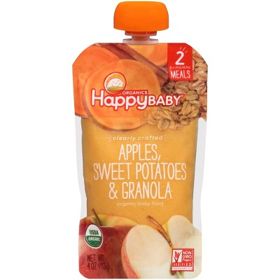 Happy Baby Clearly Crafted, Apples Sweet Potatoes & Granola - 4oz