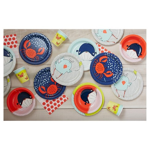 cheeky kids gray fox with lime yellow paper plates 9 30ct target