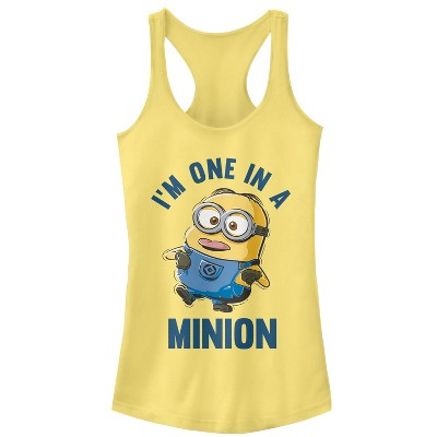 Junior's Despicable Me I'm One in Minion Racerback Tank Top